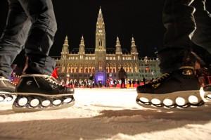 ice skating Vienna city hall